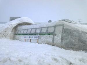 山形新幹線つばさの雪像